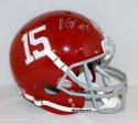 Amari Cooper Autographed Alabama Crimson Tide Full Size Helmet Natl Champs- JSA W Auth