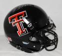 Wes Welker Autographed Texas Tech Black F/S Authentic Helmet- Fanatics Auth