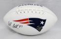 Wes Welker Autographed New England Patriots Logo Football- Fanatics Auth
