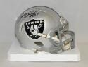 Bruce Irvin Autographed Oakland Raiders Speed Mini Helmet- JSA Witnessed Auth