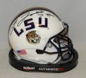 Leonard Fournette Autographed LSU Tigers White Schutt Mini Helmet- JSA W Auth