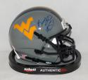 Bruce Irvin Autographed West Virginia Mountaineers Gray Mini Helmet- JSA W Auth