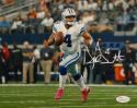 Dak Prescott Autographed Dallas Cowboys 8x10 Pink Shoes Photo- JSA W Auth