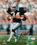 Bo Jackson Autographed *Black Oakland Raiders 8x10 Running PF. Photo- JSA W Auth