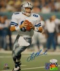 Troy Aikman Autographed Dallas Cowboys 8x10 Looking To Pass Photo- JSA W Auth