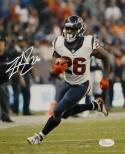 Lamar Miller Autographed Houston Texans 8x10 Vertical Running Photo- JSA W Auth