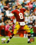 Kirk Cousins Autographed Washington 8x10 Vertical Passing PF. Photo- JSA W Auth