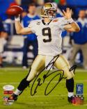 Drew Brees Autographed New Orleans Saints 8x10 Passing PF. Photo- JSA W Auth