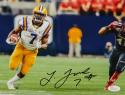 Leonard Fournette Signed LSU Tigers 8x10 Horizontal Running Photo- JSA W Auth