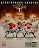 Applewhite McCoy Young Signed 8x10 Quarterback Legends PF. Photo- JSA W Auth