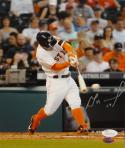 Jose Altuve Autographed *Silver Houston Astros 8X10 Batting Photo- JSA W Auth