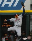 George Springer Autographed Houston Astros 8X10 Leaping Catch Photo- JSA W Auth