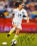 Morgan Brian Autographed Team USA 8x10 On Field Photo- JSA Witnessed Auth