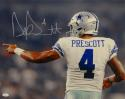 Dak Prescott Signed *Silver Dallas Cowboys 16x20 Back View Photo- JSA W Auth