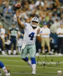 Dak Prescott Autographed Dallas Cowboys 16x20 Passing PF. Photo- JSA W Auth