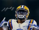 Leonard Fournette Autographed LSU Tigers 16x20 Close Up Photo- JSA W Auth