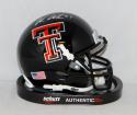 Wes Welker Autographed Texas Tech Red Raiders Black Mini Helmet- Fanatics Auth