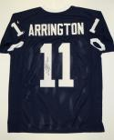 LaVar Arrington Autographed Navy Blue College Style Jersey- JSA W Authenticated