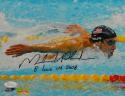 Michael Phelps Autographed 8x10 Horizontal Swimming Photo W/ 8 Gold- JSA W Auth