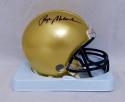 Roger Staubach Autographed Navy Midshipmen Mini Helmet- JSA Witnessed Auth