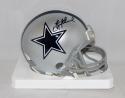 Troy Aikman Autographed *Black Dallas Cowboys Silver Mini Helmet- JSA W Auth