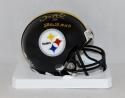 Santonio Holmes Autographed *Gold Steelers Mini Helmet W/ SB MVP- JSA W Auth