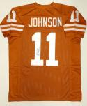 Derrick Johnson Autographed Orange College Style Jersey- JSA W Authenticated