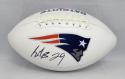 LeGarrette Blount Autographed New England Patriots Logo Football- JSA W Auth