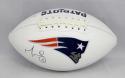 Martellus Bennett Autographed New England Patriots Logo Football- JSA W Auth