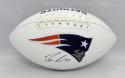 Dion Lewis Autographed New England Patriots Logo Football- JSA Witnessed Auth