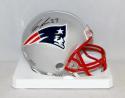 Dion Lewis Autographed New England Patriots Mini Helmet- JSA Witnessed Auth