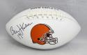 Bernie Kosar Autographed Cleveland Browns Logo Football- JSA Witnessed Auth