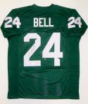 LeVeon Bell Autographed Green College-Style Jersey- JSA Witnessed Authenticated