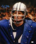Bob Lilly Signed Dallas Cowboys 16x20 Wearing Jacket Photo With HOF and JSA W