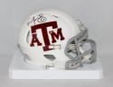 Martellus Bennett Autographed Texas A&M White Speed Mini Helmet- JSA W Auth