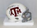 Michael Bennett Autographed Texas A&M White Speed Mini Helmet- JSA W Auth