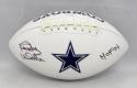 Randy White Autographed Dallas Cowboys Logo Football With HOF- JSA W Auth