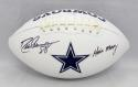 Drew Pearson Autographed Dallas Cowboys Logo Football W/ Hail Mary- JSA W Auth