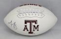 Martellus Bennett Autographed Texas A&M Aggies Logo Football- JSA Witnessed Auth