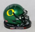 LeGarrette Blount Autographed Oregon Ducks Green Mini Helmet- JSA Witnessed Auth