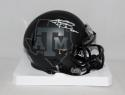 Johnny Manziel Heisman Signed *W Texas A&M Black Riddell Mini Helmet- JSA W Auth