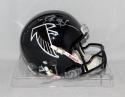 Deion Sanders Autographed Atlanta Falcons Black Mini Helmet- JSA Witnessed Auth