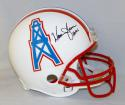 Warren Moon Autographed Houston Oilers ProLine Helmet W/ HOF- JSA Witnessed Auth