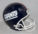 Lawrence Taylor Michael Strahan Signed NY Giants F/S Helmet W/ HOF- JSA W Auth