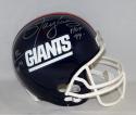 Michael Strahan Lawrence Taylor Signed NY Giants F/S Helmet W/ HOF- JSA W Auth