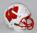 JJ Watt Autographed Wisconsin Badgers Full Size Schutt Helmet- JSA W Auth