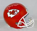 Joe Montana Autographed *White Kansas City Chiefs F/S Helmet- JSA Witnessed Auth