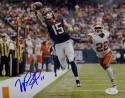 Will Fuller Signed *Blue Houston Texans 8x10 One Hand Catch Photo- JSA W Auth