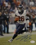 Lamar Miller Signed *Blue Houston Texans 8x10 Vertical Running Photo- JSA W Auth