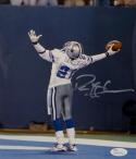 Deion Sanders Autographed Dallas Cowboys 8x10 Celebrating Photo- JSA W Auth